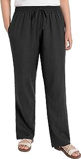 Women's Wide Leg Linen Pants with Pockets