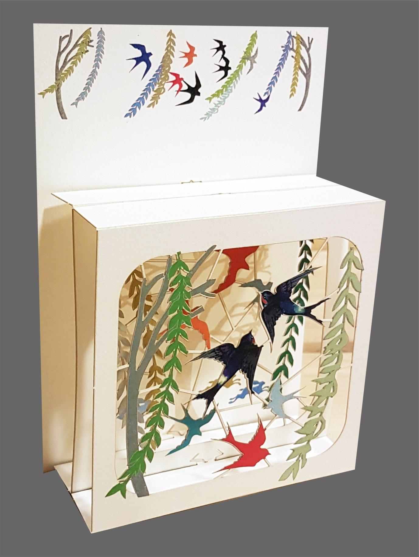 3d con varias capas de tarjeta de caja mágica – Magic primavera ...