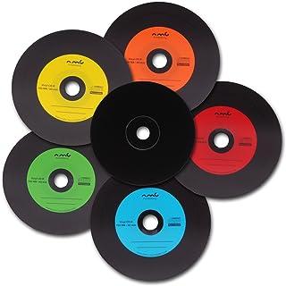 comprar comparacion NMC - Vinilo CD-R (parte trasera de CD en negro, 700 MB, 25 unidades, CD virgen), varios colores