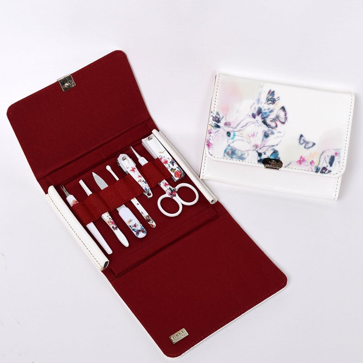 励起自分フォルダBELL Manicure Sets BM-270 ポータブル爪の管理セット 爪切りセット 高品質のネイルケアセット高級感のある東洋画のデザイン Portable Nail Clippers Nail Care Set