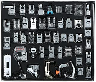 Goolsky 48pcs Professional Domestic Sewing Machine Presser Foot Set Hem Foot Spare Parts Accessories for Brother Singer Fe...