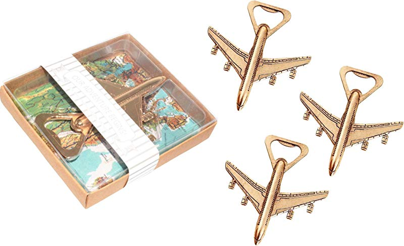 Pack Of 12 Airplane Bottle Opener With Gift Box Air Plane Travel Beer Bottle Opener Party Favor Wedding Birthday Decorations 12pcs With Gift Box