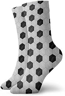 U Shape, Calcetines de vestir de equipo informal de novedad divertida de malla de balón de fútbol para mujer/Unisex 11,8 pulgadas (30 cm)