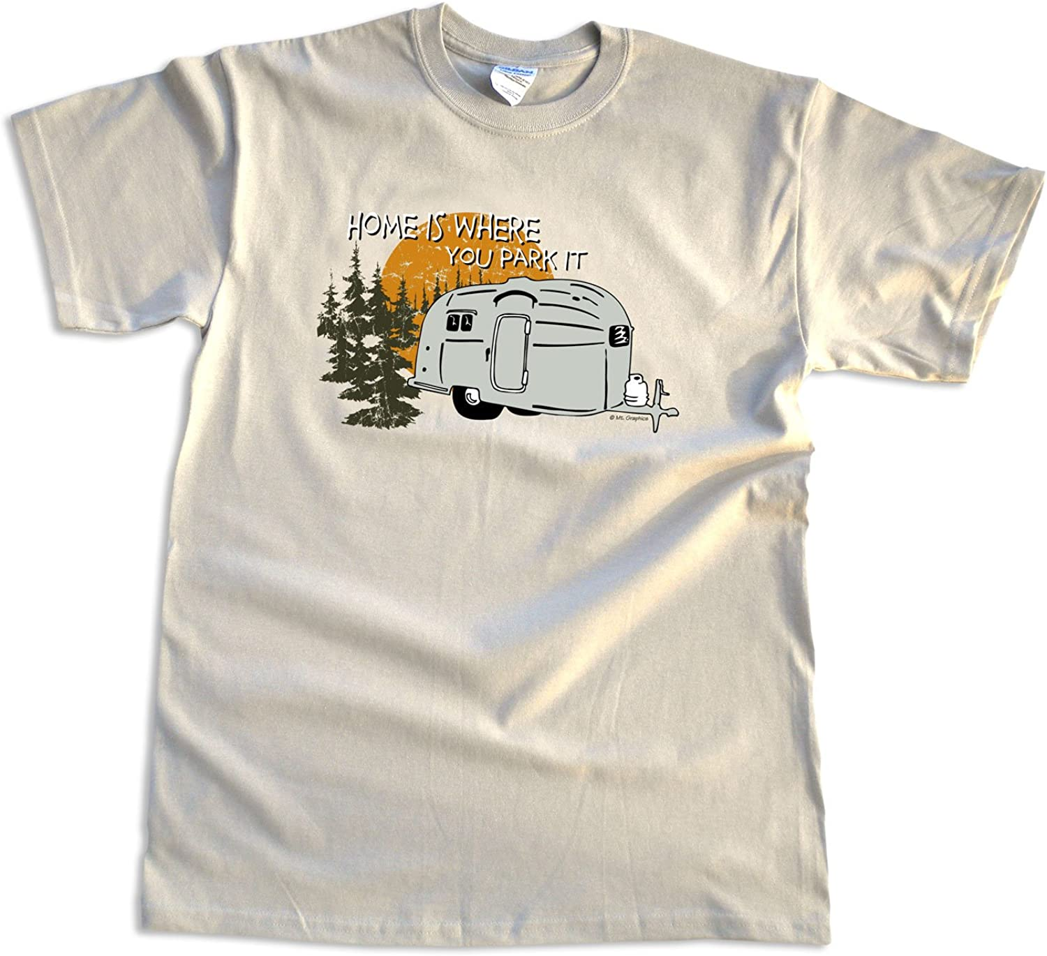 Adventure Lover Kids T-shirt Rv Outdoors Home Is Where You Park It Wht