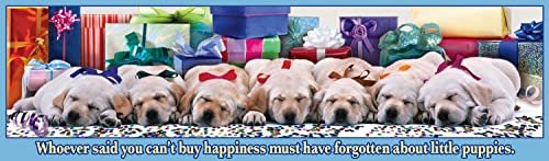 Buffalo Games Panoramic  Holiday Puppies - 750 Piece Jigsaw Puzzle by Buffalo Games