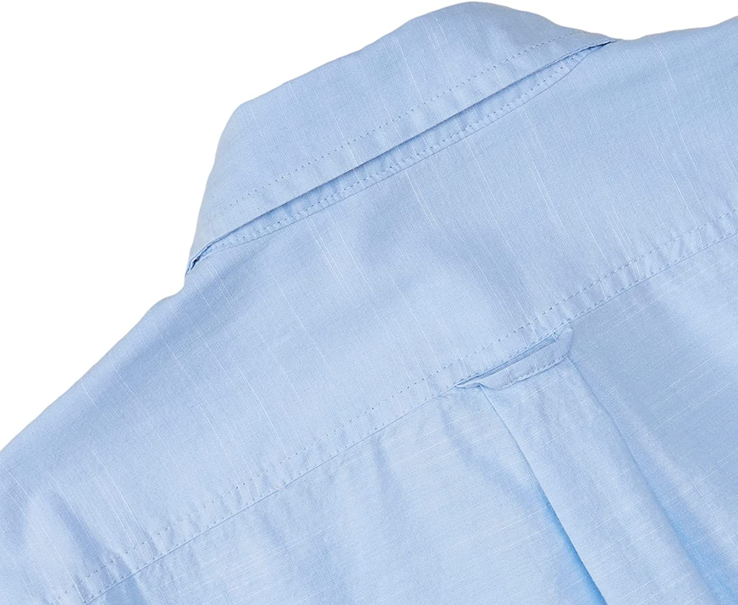 IZOD Men's Big and Tall Saltwater Dockside Chambray Long Sleeve Button Down Solid Shirt