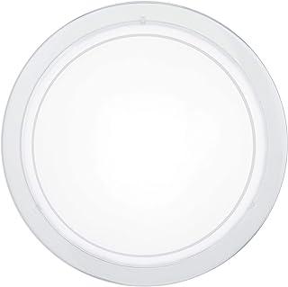 Eglo PLANET 1 E27 60W Blanco iluminación de techo - Lámpara (Dormitorio, Habitación de los niños, Salón, Blanco, IP20, Blanco, Alrededor, Acero)