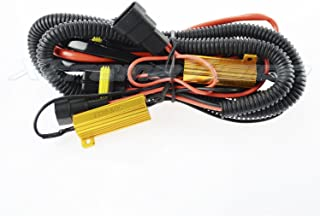 XtremeVision HID Battery Relay Harness Anti Flicker Resistor Decoder Plug and Play Error Free - 9006