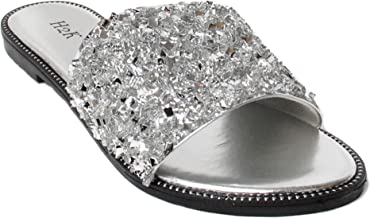 Amazon.com: Silver Wide Width Wedge Sandals