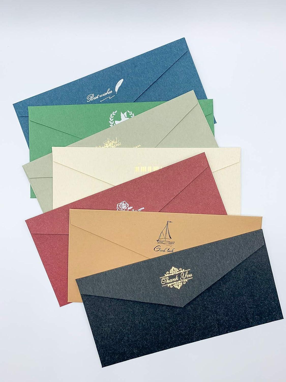 Assorted Sales results No. 1 Colored Envelopes 30 Pack Paper Kraft 11x22cm Assort Some reservation