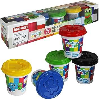 bunt 5er-Pack Knete//Spielknete//Knetmasse 150 g ca