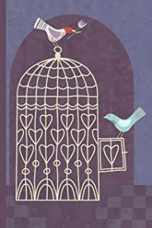 Notes: A Blank Sketchbook with Birds Leaving the Birdcage Cover Art