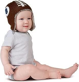 Mud Pie Newborn Baby Boy Milestone Football Knit Hat Photo Set
