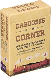 Cabooses in The Corner - The Quick Train Building Card Game for 2 to 6 Players