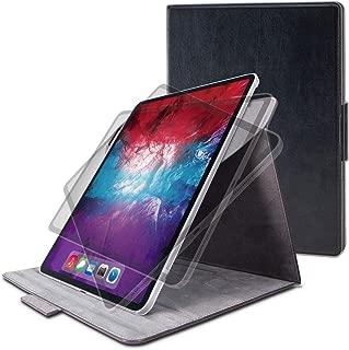 エレコム iPad Pro 12.9 2020 フラップケース ソフトレザー 360度回転 ブラック TB-A20PL360BK