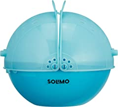 Amazon Brand - Solimo Plastic Drainer/Colander with lid (Blue)