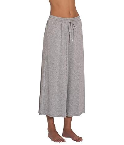 Eberjey Darby Cropped Wide Leg Pants (Heather Grey) Women