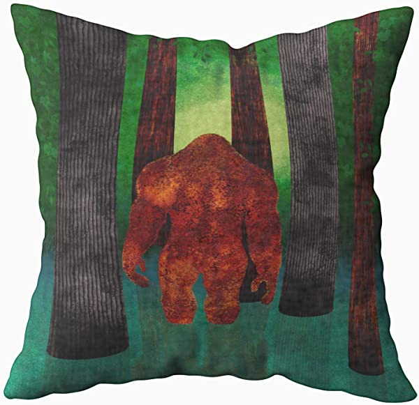 Musesh Bigfoot Cushions Case Throw Pillow Cover For Sofa Home Decorative Pillowslip Gift Ideas Household Pillowcase Zippered Pillow Covers 20X20Inch
