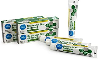 Medpride Antibiotic Ointment  Bacitracin Zinc Ointment  Essential Antibiotic First-Aid Supplies for Home  Relief for Chaffing, Diaper Rash, Dermatitis, Eczema, Itchy/Dry Skin  1 Oz Tube  4 Pack