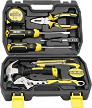 DOWELL 10 Piece Small Tool Kit,Mini Portable Tool Set,Home Repair Hand Tool Kit with..