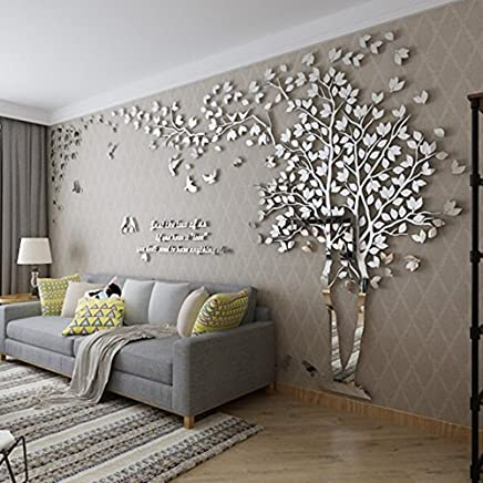 DIY 3D Giant Couple Tree Wall Decals Stickers Crystal Acrylic Decor Arts L
