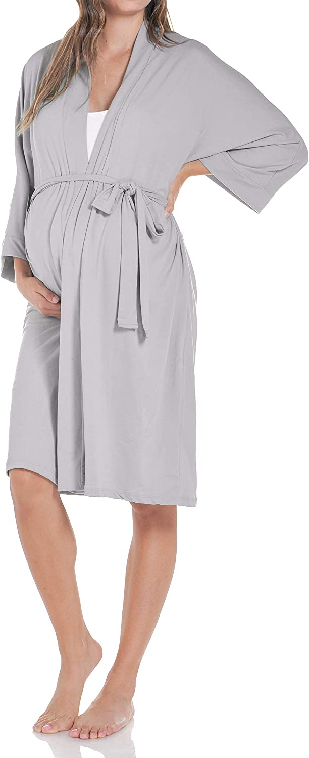 Beachcoco Women's Maternity Robe delivery Nursing Made in USA
