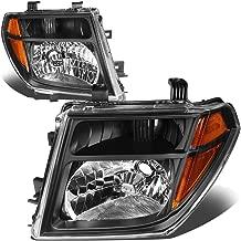 For Nissan Frontier/Pathfinder 2nd Gen D40 Pair of Black Housing Amber Corner Headlight Replacement