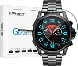 (3 Pack) Orzero for Diesel Full Guard 2.5 2018 Smartwatch Tempered Glass Screen Protector (Smaller Version), 2.5D Arc Edges 9 Hardness HD Anti-Scratch Bubble-Free (Lifetime Replacement Warranty)