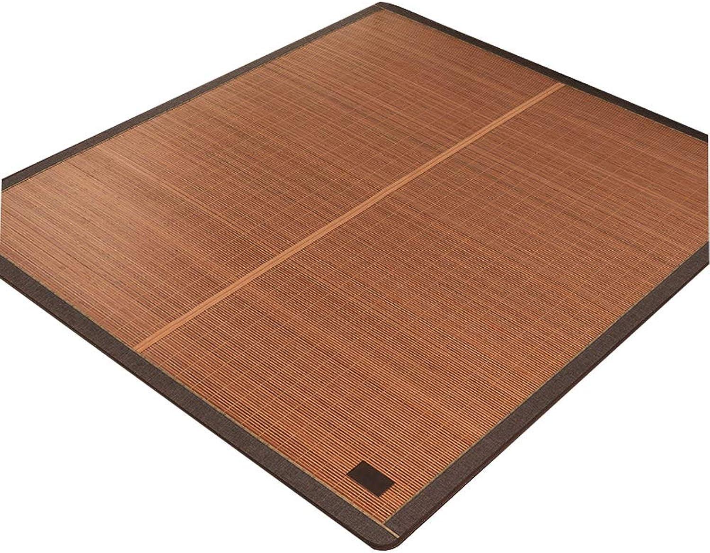 QB Summer Sleeping Pad Summer Sleeping Mat Bamboo mat Summer Double Sided mat and Pillow Shams Set Four Sizes (color   B, Size   Queen)