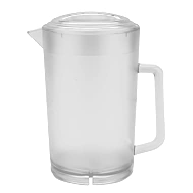 GET P-3064-1-CL-EC BPA-Free Textured Scratch-Resistant Plastic Pitcher with Lid, 64 Ounce, Clear