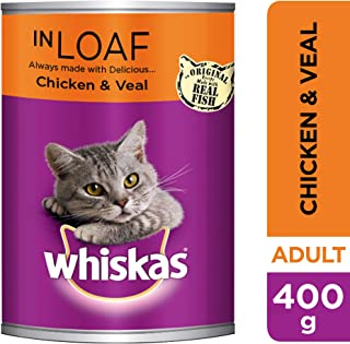Whiskas Mince Chicken and Veal in Loaf, Can, 400g x 24