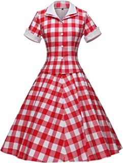 2ab5b38c36 GownTown Women s Vintage 1950s Retro Rockabilly Prom Dresses