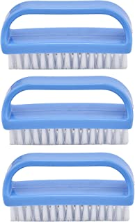 Superio Nail Brush Cleaner with Handle 3 Pack, Durable Scrub Brush to Clean Toes and Fingernails, All Purpose Hand Scrubber Cleaning Brush - Stiff Bristles, Easy to Use (3-Pack)