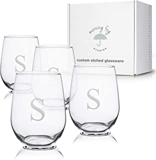 Best monogram wine glasses Reviews