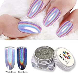 CUCIYOURS 2g Holographic Nail Powder Nail Glitter Rainbow Mirror Effect Multi Chrome Nail powder Manicure Pigment