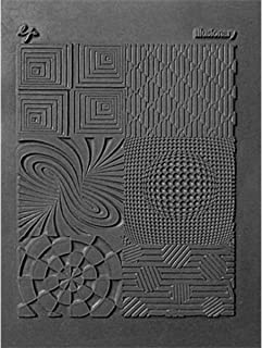 Lisa Pavelka Polymer Clay Art Supplies (Style #187) - Rubber Mold Crafting Texture Stamp - Illusionary