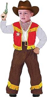 FIORI PAOLO–Disfraz vaquero niño S (3-4 anni) multicolor