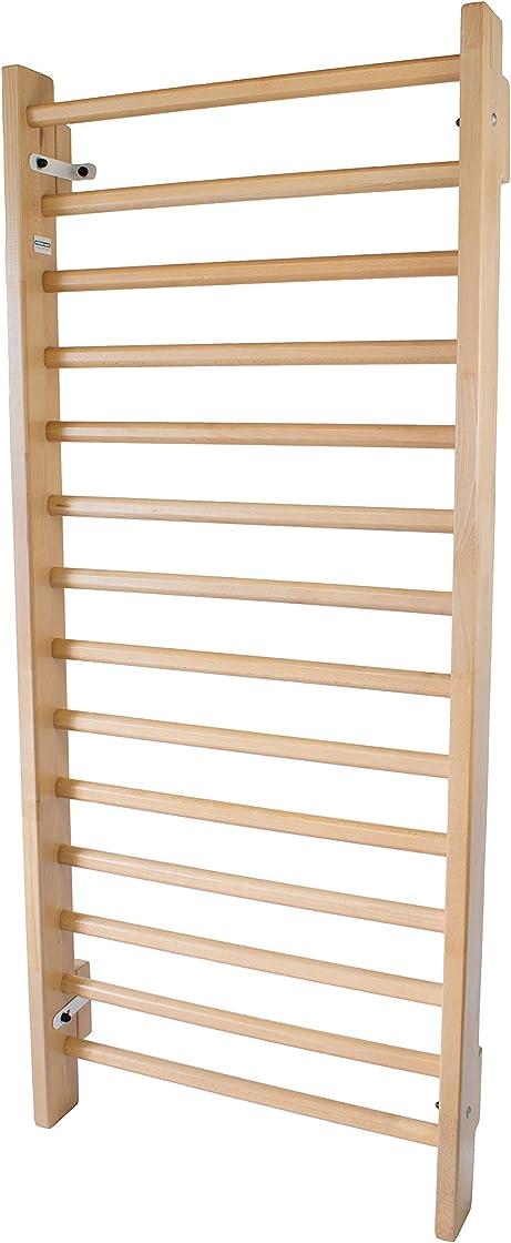 Spalliera svedese per scoliosi  in legno di faggio, 200x85 cm, codice 253-reha-beech - artimex