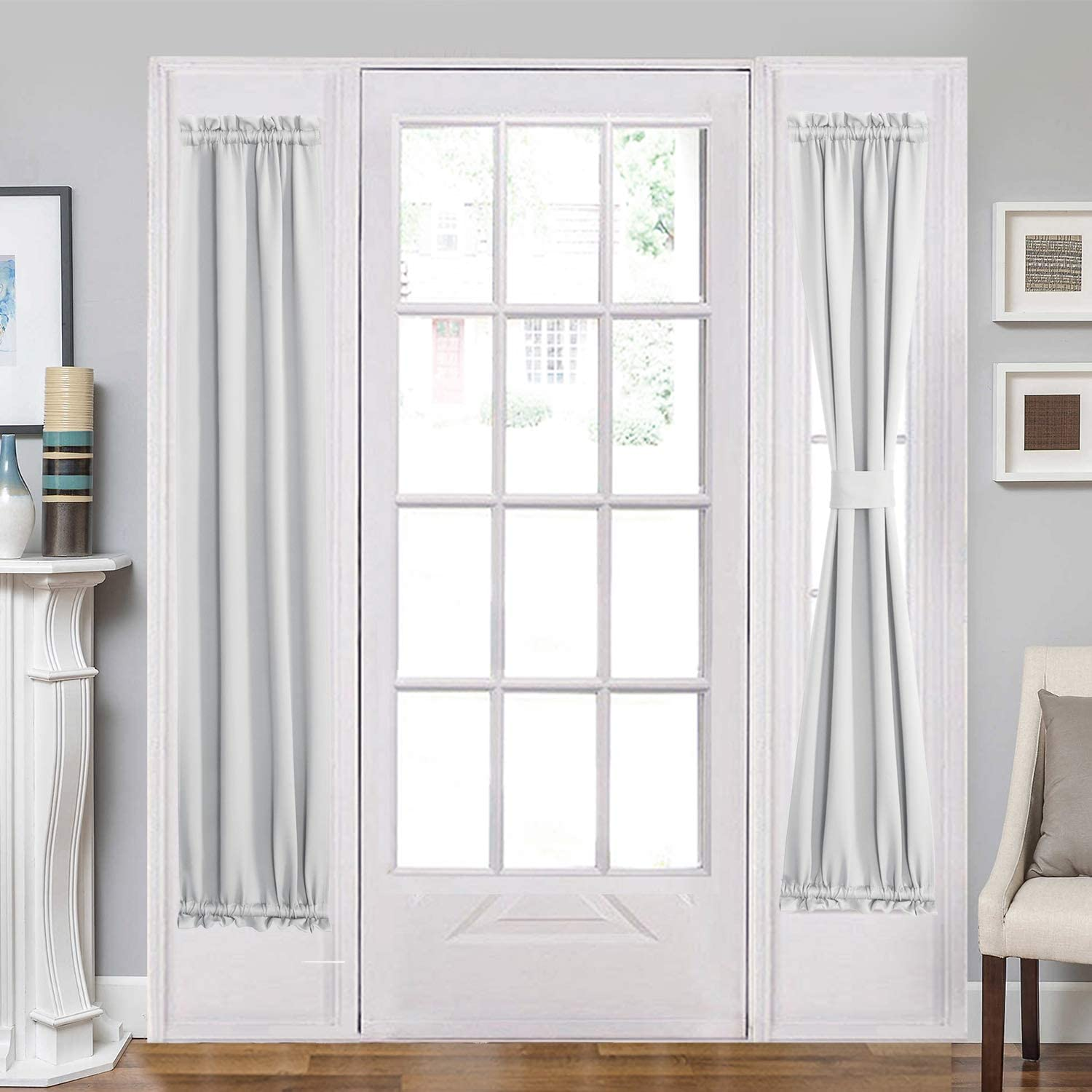 Aquazolax Rod Pocket French Door Drapes Pan Blakout Curtain Kansas City Mall Our shop OFFers the best service
