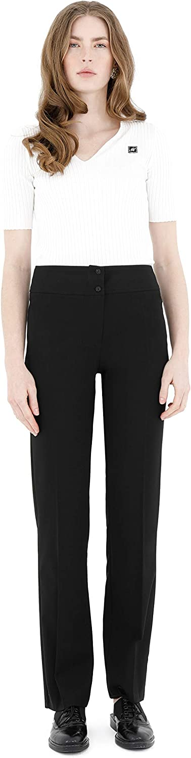 G-Line Women's Straight Leg Fit All Day Comfortable Dress Pants