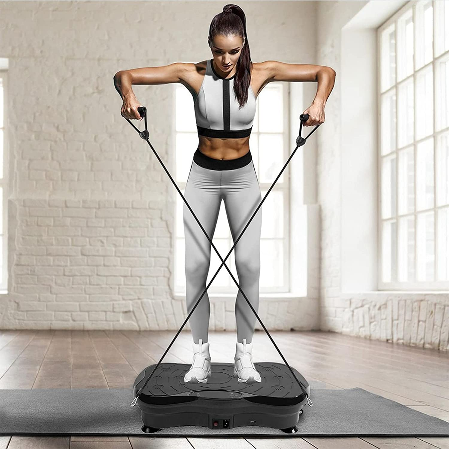 DFDGBD Vibration Plate Exercise Machine Bombing free shipping Lowest price challenge - Workout Body Whole Vib
