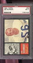 1962 Topps #59 Joe Schmidt Detroit Lions NM PSA 7 Graded Football Card NFL