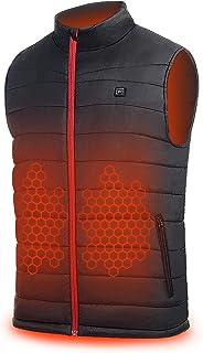 Heated Vest for Men Women - WHISHINE Lightweight Fleece Electric Motorcycle Vest for Outdoor Fishing,Hunting, Skiing