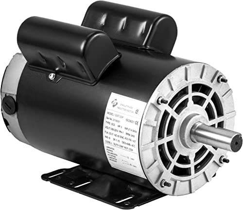"2021 Mophorn 5HP Electric Compressor Motor, 3450RPM 143T/56 Frame wholesale Single Phase 7/8"" Shaft Diameter Air Compressor Motor 208-230V 60Hz AC Electric outlet online sale Motor online sale"