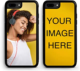 iZERCASE Custom iPhone 7/8 Case Black Phone Cover [Personalized Custom Picture CASE] Make Your Own Phone Cases (Black, iPhone 7/8)