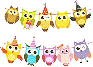 Azude Party Banner Flags Kids Birthday Baby Shower Decorations Set of 2