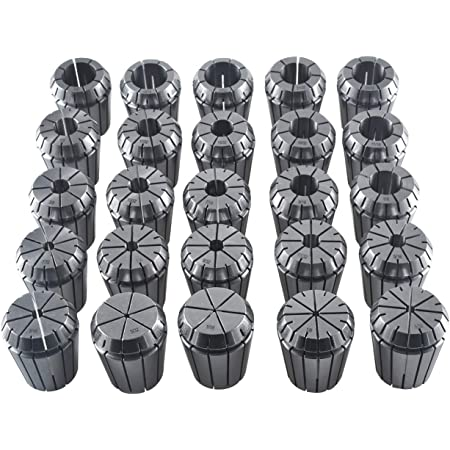 """25 Pcs ER32 Collet Set 1//8-13//16/"""" by 16th and 32nd Industrial Grade Accurate New"""