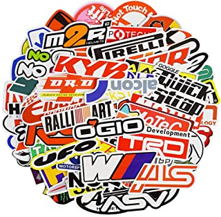Waterproof Vinyl Stickers for Laptop Water Bottles Hydro Flask Motorcycle Bicycle Skateboard Luggage Car Bumper Guitar Decals (100 Pcs Racing Car Style Stickers)