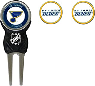 Team Golf NHL Divot Tool with 3 Golf Ball Markers Pack, Markers are Removable Magnetic Double-Sided Enamel