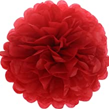 Lightingsky 10pcs DIY Decorative Tissue Paper Pom-poms Flowers Ball Perfect for Party Wedding Home Outdoor Decoration (10-...
